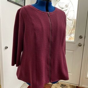 H by Halston Zippered Cardigan NWOT
